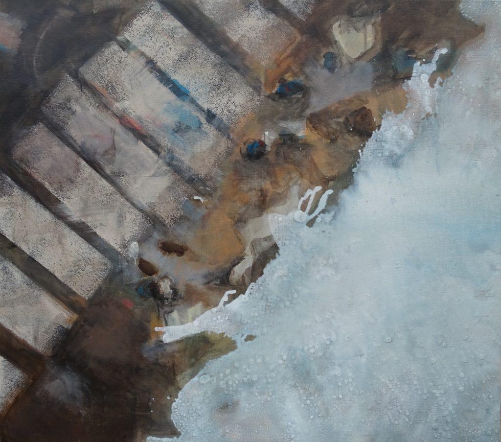 Beach marks 1 125 x 110 acryl on canvas 2018