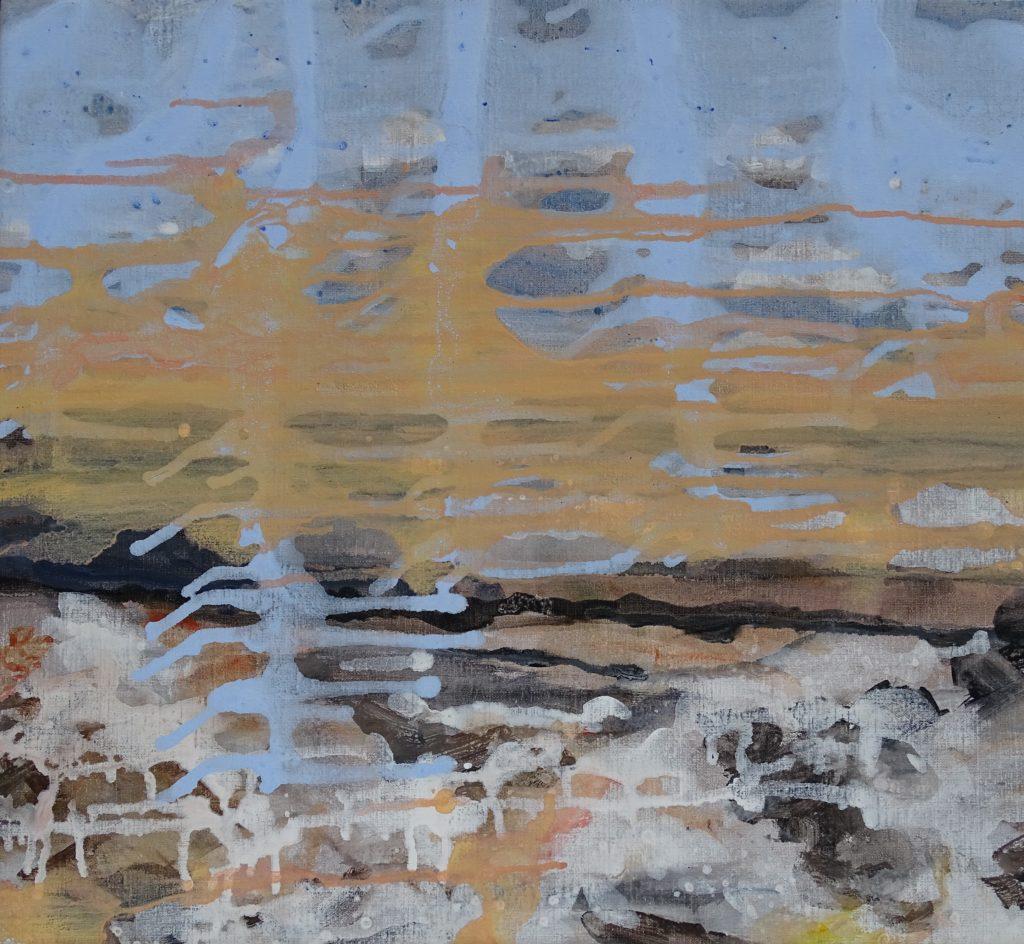 Sun downer 55 x 50 acryl on canvas  2018