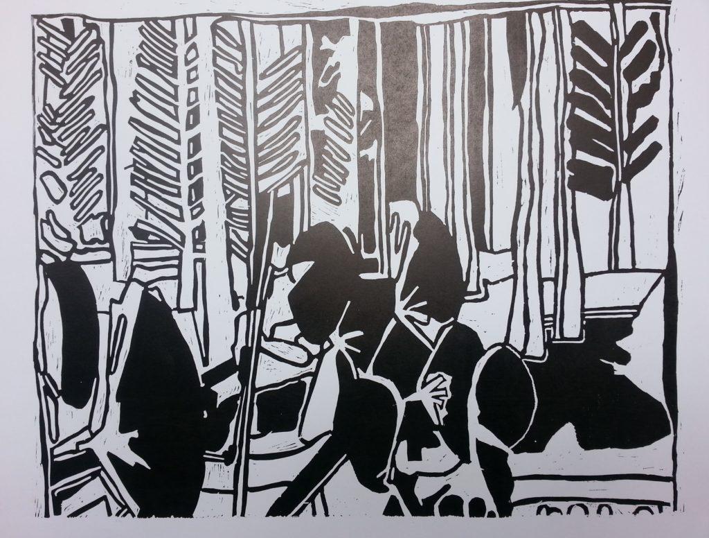 Lino 2 140 x 200 print on paper 2014
