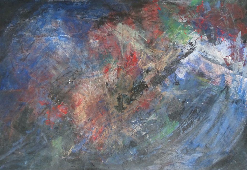 Vulcano 1 98 x 68 acryl op papier
